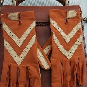 Vintage isotone gloves